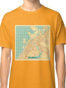 Dubai Map Retro Classic T-Shirt