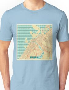 Dubai Map Retro Unisex T-Shirt