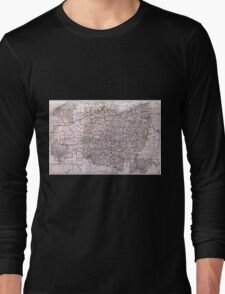 Vintage Map of Ohio (1884)  Long Sleeve T-Shirt