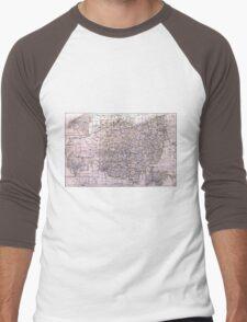 Vintage Map of Ohio (1884)  Men's Baseball ¾ T-Shirt