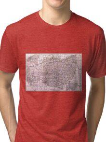 Vintage Map of Ohio (1884)  Tri-blend T-Shirt