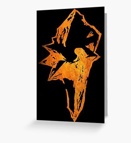 °FINAL FANTASY° Final Fantasy IX Rust Logo Greeting Card