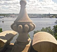 Ramparts of Boldt Castle Overlooking the St. Lawrence River,  New York, USA by Shulie1