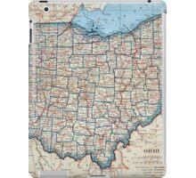 Vintage Map of Ohio (1921) iPad Case/Skin