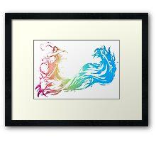 °FINAL FANTASY° Final Fantasy Rainbow Logo Framed Print