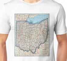 Vintage Map of Ohio (1921) Unisex T-Shirt