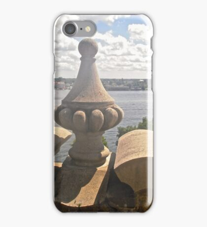 Ramparts of Boldt Castle Overlooking the St. Lawrence River,  New York, USA iPhone Case/Skin