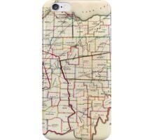Vintage Map of Ohio (1866)  iPhone Case/Skin
