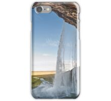 Behind Seljalandsfoss iPhone Case/Skin