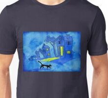 Night Cat On The Prowl Unisex T-Shirt