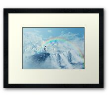 heaven's waterfall Framed Print
