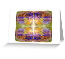 Beautiful Vibrant Cross in Yellow and Purple Greeting Card