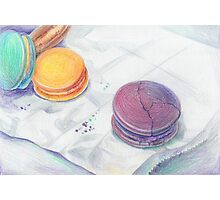 Bright multicolored macaroons Photographic Print