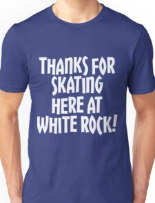 WRSC Skating at White Rock (white) Unisex T-Shirt
