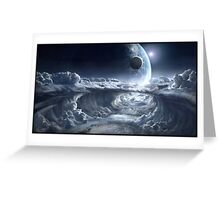 Distant Alien Planet Greeting Card