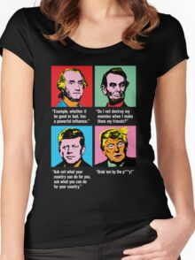 Trump - 15 Minutes of Action Women's Fitted Scoop T-Shirt