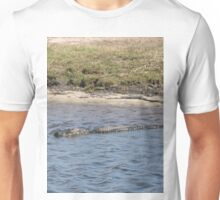 Alligator in the Water Unisex T-Shirt