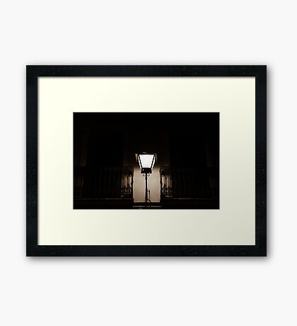 In the dark eternal night  Framed Print