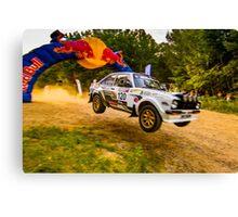 Ford Escort Mk2 Rally Jump Canvas Print