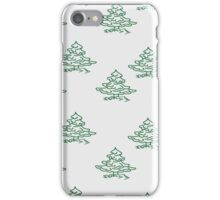 Small trees on a grey iPhone Case/Skin