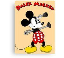 Dalek Mickey (plus Text) Canvas Print