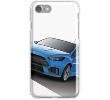 Blue Focus RS - Silver wheels iPhone Case/Skin