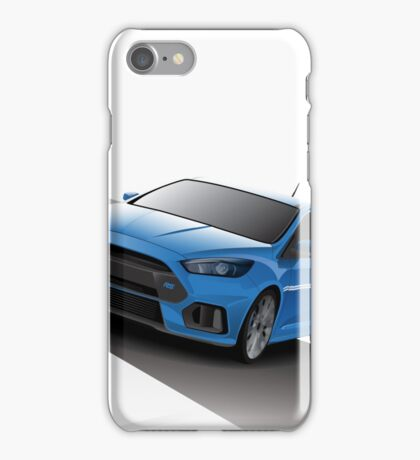Blue Focus RS - Silver wheels iPhone Case/Skin