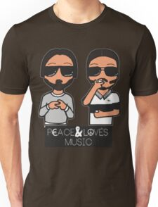 peace and love music Unisex T-Shirt