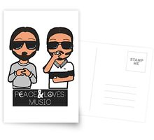 peace and love music Postcards