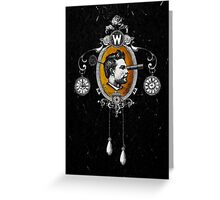 The Watchmaker (black version) Greeting Card