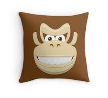 Donkey Kong face Throw Pillow