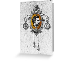 The Watchmaker (white version) Greeting Card