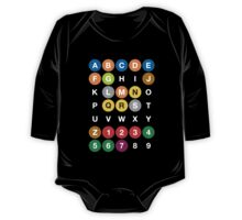 NYC Subway Letters One Piece - Long Sleeve