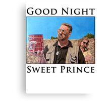 Good Night Sweet Prince Canvas Print