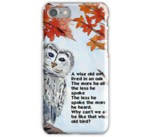 Wise Owl iPhone Case/Skin