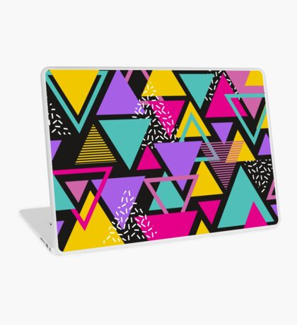 Memphis Triangles Laptop Skin