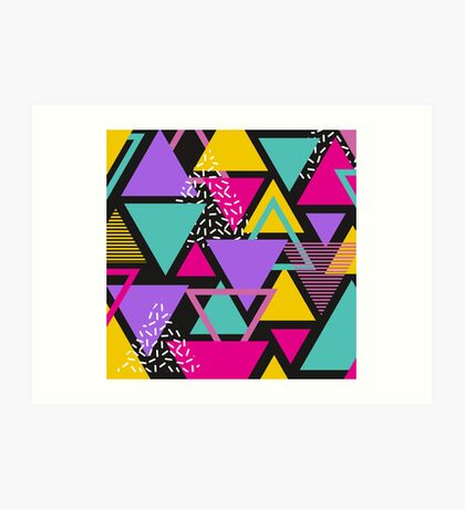 Memphis Triangles Art Print