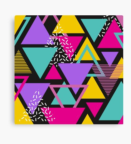 Memphis Triangles Canvas Print