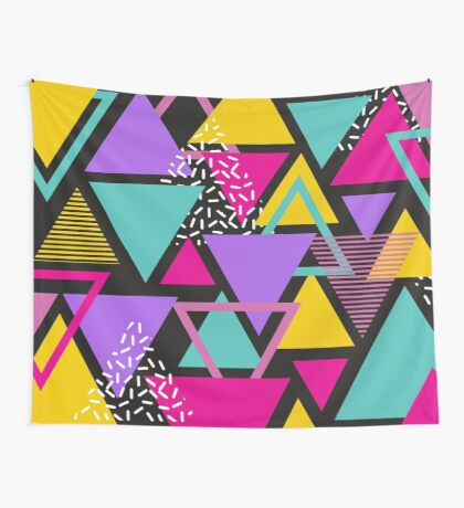 Memphis Triangles Wall Tapestry