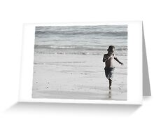 Running scared Greeting Card