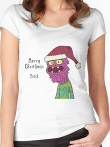 Scary Terry Merry Xmas Bitch - Rick and Morty Women's Fitted Scoop T-Shirt