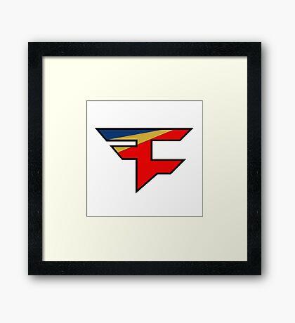 Faze logo Framed Print