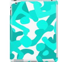 Malachite letters iPad Case/Skin