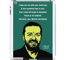Ricky Gervais Atheist Christmas iPad Case/Skin