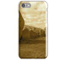 West Kennet Long Barrow and Silbury Hill, Wiltshire iPhone Case/Skin