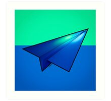 Paper Airplane 32 Art Print