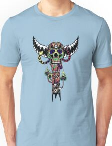 Psychedelic Skull and Snake Totem - Color Unisex T-Shirt