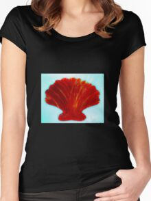 Salty seashell Women's Fitted Scoop T-Shirt