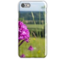 Pyramidal Orchid (Anacamptis pyramidalis) on chalkhill downs iPhone Case/Skin