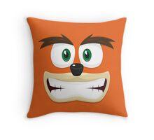 Crash Bandicoot face Throw Pillow